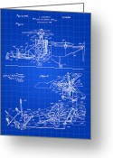 Patent Greeting Cards - Helicopter Patent Greeting Card by Stephen Younts