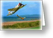 Airplanes Digital Art Greeting Cards - Hell Dive Greeting Card by Garry Staranchuk