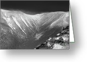 Mountain Summit Greeting Cards - Hellgate Ravine - White Mountains NH Greeting Card by Erin Paul Donovan