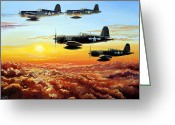 Plane Greeting Cards - Hellions Greeting Card by Charles Taylor