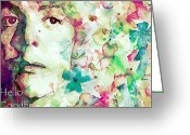 Portrait Greeting Cards - Hello Goodbye Greeting Card by Paul Lovering