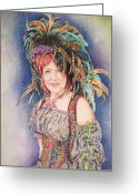 Renaissance Festival Greeting Cards - Hello My Lady Greeting Card by Fay Akers