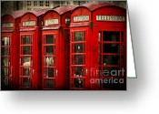 Phone Booth Greeting Cards - Hello Greeting Card by Yhun Suarez
