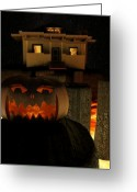James Barnes Greeting Cards - Helloween Greeting Card by James Barnes