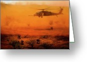 Usaf Greeting Cards - Help Arrives Greeting Card by Dale Jackson
