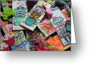 """greeting card help children read with book marks hand painted two chrisann ellis Newbies are genuinely interested in how Whitburn Whiskers started – or """"What ..."""