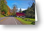 Split-rail Fence Greeting Cards - Helvetia WV Greeting Card by Steve Harrington