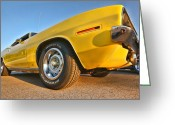 Wheels Greeting Cards - Hemi Cuda - Ready for Take Off Greeting Card by Gordon Dean II