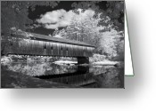 Saco River Greeting Cards - Hemlock Covered Bridge Greeting Card by James Walsh