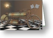 Racer Digital Art Greeting Cards - Henderson Special Greeting Card by Stuart Swartz