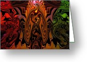 Trippy Greeting Cards - Hendrix Greeting Card by Karen M Scovill