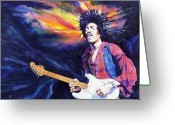 Jimi Hendrix Painting Greeting Cards - Hendrix Greeting Card by Ken Meyer jr