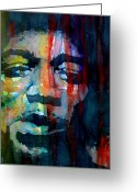 Pop Greeting Cards - Hendrix Greeting Card by Paul Lovering