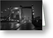 Mississippi County Greeting Cards - Hennepin Avenue Bridge Greeting Card by Heidi Hermes