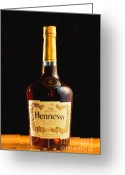 Pubs Greeting Cards - Hennessy Cognac - Painterly Greeting Card by Wingsdomain Art and Photography