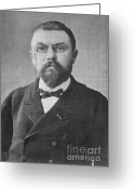 Jules Photo Greeting Cards - Henri Poincare, French Mathematician Greeting Card by Science Source