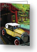 Covered Bridge Painting Greeting Cards - Henry Bridge Greeting Card by Bob Crawford
