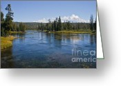 River Flooding Greeting Cards - Henry Fork of Snake River Greeting Card by Robert Bales