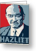 Conservative Greeting Cards - Henry Hazlitt Greeting Card by John L