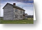 Canons Greeting Cards - Henry House at Manassas Battlefield - Virginia Greeting Card by Brendan Reals