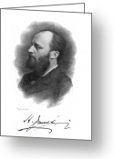 Signature Greeting Cards - Henry James (1843-1916) Greeting Card by Granger