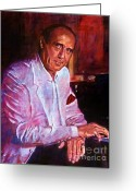 Music Legends Greeting Cards - Henry Mancini Greeting Card by David Lloyd Glover