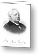 Autograph Greeting Cards - Henry Ward Beecher Greeting Card by Granger