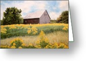 Maine Painting Greeting Cards - Henrys Barn Greeting Card by Carole Rickards