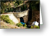 Old Mines Greeting Cards - Henson Creek Dam 2 Greeting Card by Lana Trussell