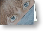 Bright Pastels Greeting Cards - Her Eyes Greeting Card by Sandra Valentini