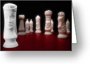 Chess Game Greeting Cards - Her Majesty  Greeting Card by Tom Mc Nemar