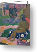 Gauguin; Paul (1848-1903) Greeting Cards - Her Name is Vairaumati Greeting Card by Paul Gauguin