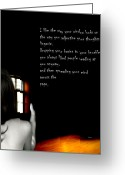 Naked Women Greeting Cards - Her Poetic Beauty Greeting Card by Steven  Digman