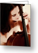 Naked Women Greeting Cards - Her Private Recital  Greeting Card by Steven  Digman