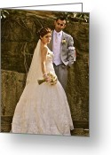  Woman In A Dress Photo Greeting Cards - Her Special Day Greeting Card by Dorota Nowak