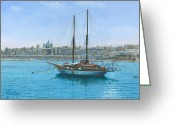 Hera Greeting Cards - Hera 2 Valletta Malta Greeting Card by Richard Harpum