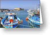 Fishermen Greeting Cards - Heraklion - Venetian fortress - Crete Greeting Card by Joana Kruse