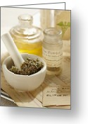 Narcotic Greeting Cards - Herbal Medicine Greeting Card by Lew Robertson/Fuse
