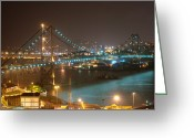 Luz Greeting Cards - Hercílio Luz Bridge Greeting Card by Paulo Hoeper