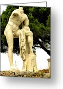 Greek Sculpture Digital Art Greeting Cards - Hercules Greeting Card by Mindy Newman