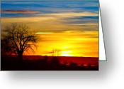 Colors Greeting Cards - Here Comes The Sun Greeting Card by James Bo Insogna