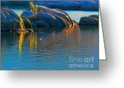 Watson Lake Greeting Cards - Here Comes The Sun Greeting Card by Robert Hooper