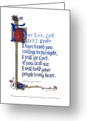 Biblical Greeting Cards - Here I Am Greeting Card by Judy Dodds