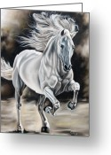 Horse Greeting Cards - Hereje Greeting Card by Ilse Kleyn