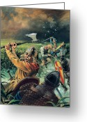Fighters Painting Greeting Cards - Hereward the Wake Greeting Card by Andrew Howat