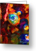Impressionist Art Greeting Cards - Hermit Crabs in Abstract Greeting Card by Wingsdomain Art and Photography
