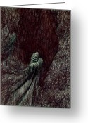 Outsider Art Drawings Greeting Cards - Hermit Greeting Card by Kd Neeley