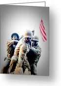 Marine Corps Greeting Cards - Heroes Greeting Card by Julie Niemela