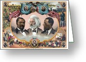 Abraham Lincoln Greeting Cards - Heroes Of The Colored Race  Greeting Card by War Is Hell Store