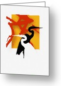 Woodlands Greeting Cards - Herons  Greeting Card by Bob Salo